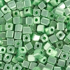 Square Beads Metallic Green